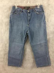 Chicos-denim-jeans-size-3-dark-wash-cuffed-33-x-25-ankle-XL-16