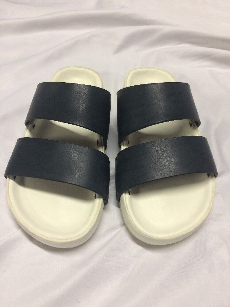 FEIT SLIDE  LEATHER  Sandals Size XS Navy