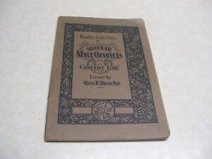 1905 Laïque Mâle Du Quatuor-concert Utilisation Par Geo Mervis 32 Chansons-afficher Le Titre D'origine