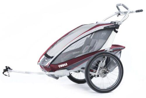Enfants Remorque Thule Chariot CX 2 Bourgogne Modèle 2016 + vélo-Set10101324