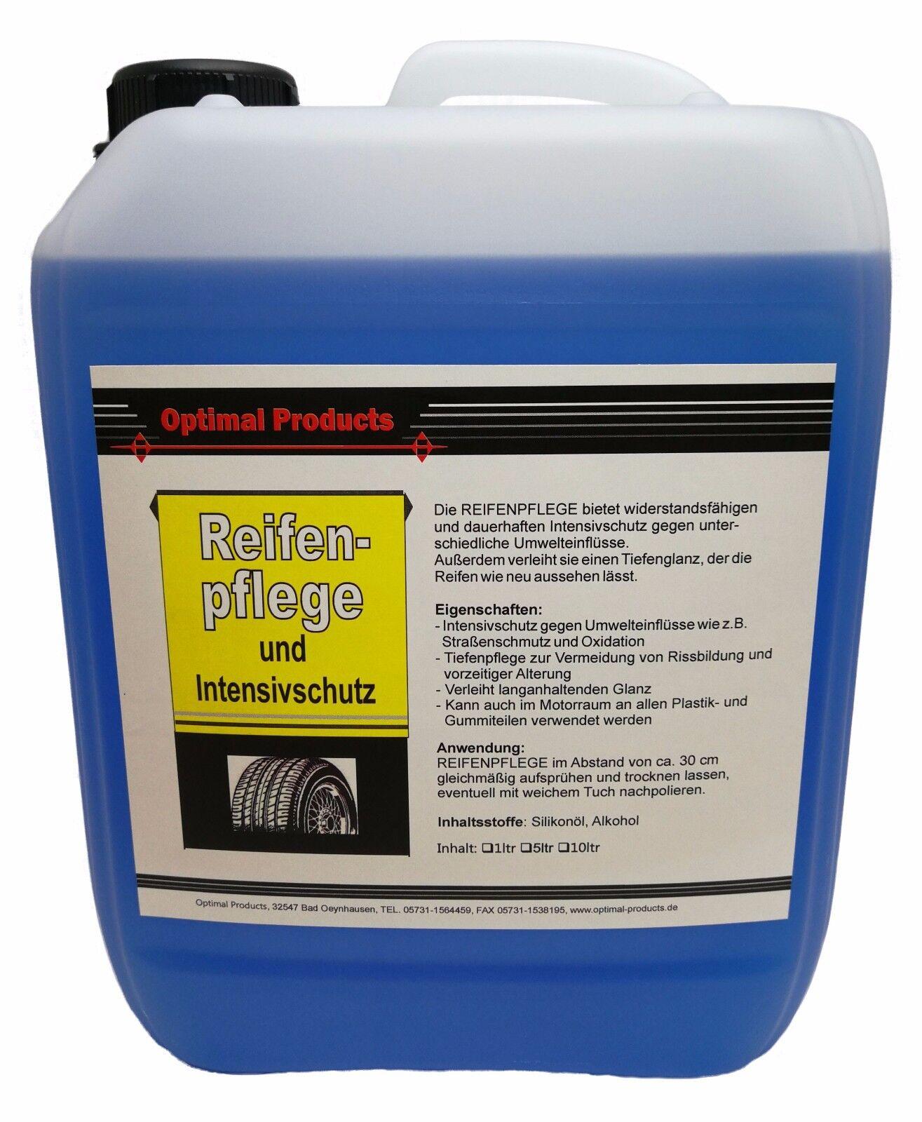 Reifenpflege Reifenglanz Neu- Effekt 1 X 5 Liter Kanister Hoch wirksam