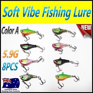8X-5-9g-4-5cm-Like-Fishing-Soft-Vibe-Lures-Color-A
