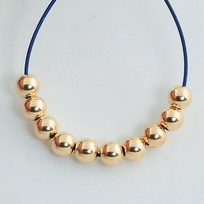 2mm 18k Solid Gold Smooth Round Bead Spacer (100)