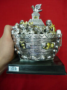 BEAUTIFUL-BIG-7-1-034-NOAH-039-S-ARK-OPEN-STATUE-SILVER-PLATED-FROM-JERUSALEM-HOLY-LAND