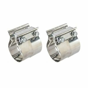 """3/"""" In Lap Joint Exhaust Band Clamp Exhaust Repair Preformed 304 Stainless Steel"""