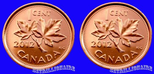 2012 CANADA 2X 1 CENT CANADIAN PENNY MAGNETIC UNC ONE CENT.US SELLER.