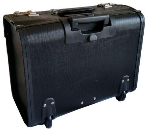 Haute qualité pvc pilote trolley voyage ordinateur portable roues sac case front poche à rabat