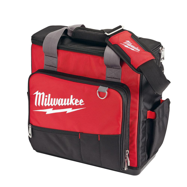 Milwaukee 17 In. Jobsite Tech Tool Bag Wipe-Clean Polyester Fabric NEW48-22-8210
