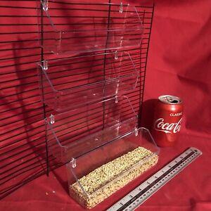 12 Cage Bird Feeder 20cm Clip Sur L'eau Nourriture Bol Auge 2 Crochet Tasse Budgie Canary