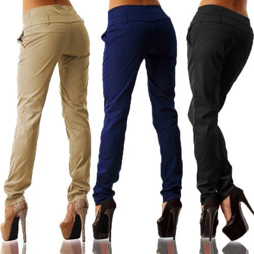 a Ol Laidies a Work vita Pantaloni S gamba dritta Office Pantaloni donna alta 5xl dAvqdw8