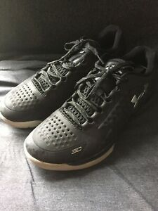 sale retailer 2576c dd228 Details about Used Under Armour UA Curry 2 Low Basketball Shoes SZ 10  1269048-004 Black