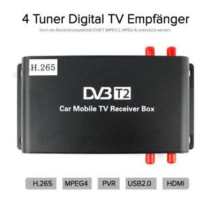 dvb t2 hevc receiver 4x antenne auto kfz 12v dvbt2. Black Bedroom Furniture Sets. Home Design Ideas