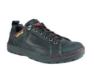 Caterpillar BRODE SG  Herren Work Casual Skate Leder schwarz Leder Skate Schuhes ... 25e1e7