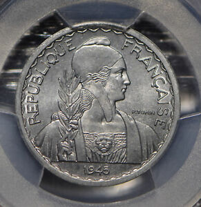 French-Indo-China-1945-20-Cents-PCGS-MS64-Lec-252-PC0640-combine-shipping