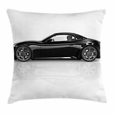 Cars Throw Pillow Case Sports Car In Black Color Square Cushion Cover 24 Inches For Sale Online