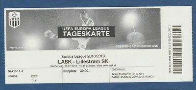 Liefern Orig.ticket Europa League 2018/19 Linzer Ask - LillestrÖm Sk !! Selten