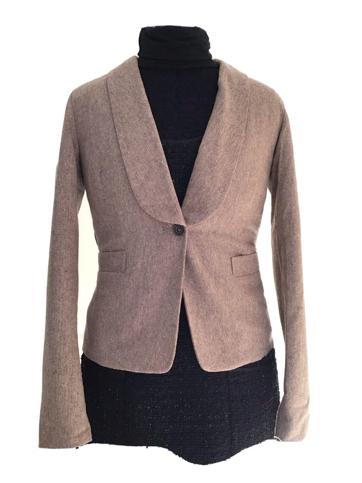 Vila Blazer Jacket Size XS 36 Beige Brown Ladies Figure stresses Top