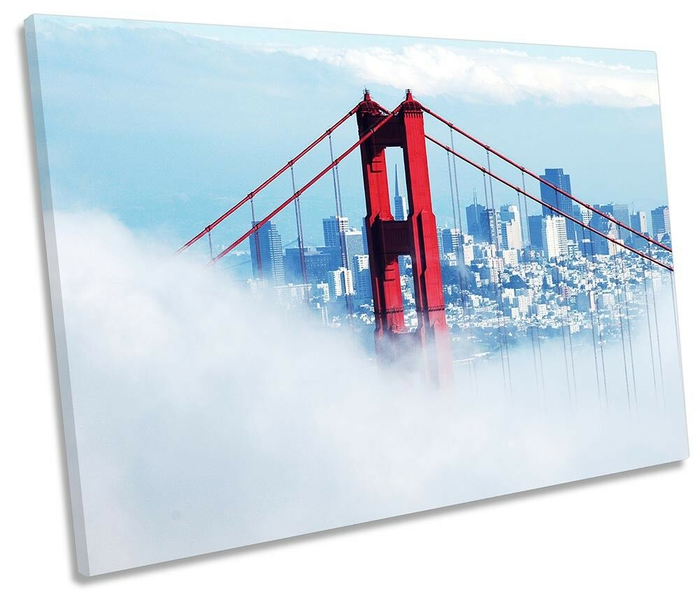 Golden Gate Bridge Misty Picture SINGLE CANVAS WALL ART Print