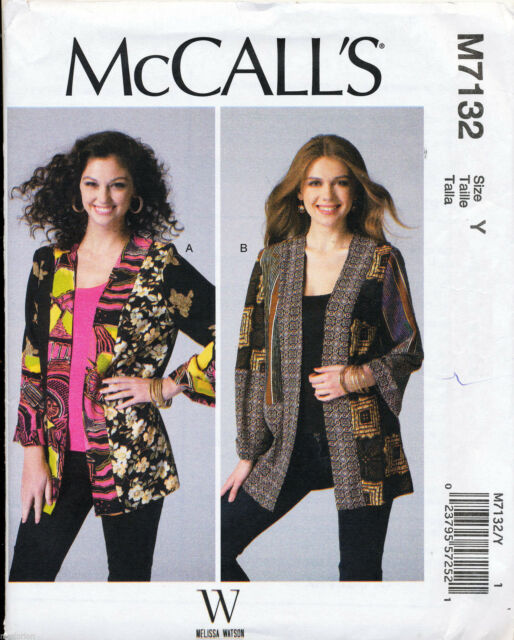 Mccall\'s Sewing Pattern 7132 Misses 16-26 Patchwork Kimono Jackets ...