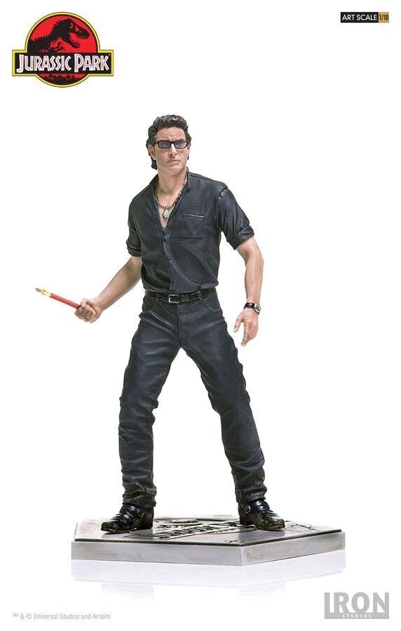 Jurassic Park - Ian Malcom 1 10 Scale Battle Diorama Statue