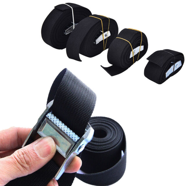Nylon Bag Belt Pack Cam Tie Down Straps Cargo Lash Luggage With Metal Buckle
