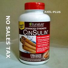 trunature Advanced Strength CinSulin, 170 Capsules