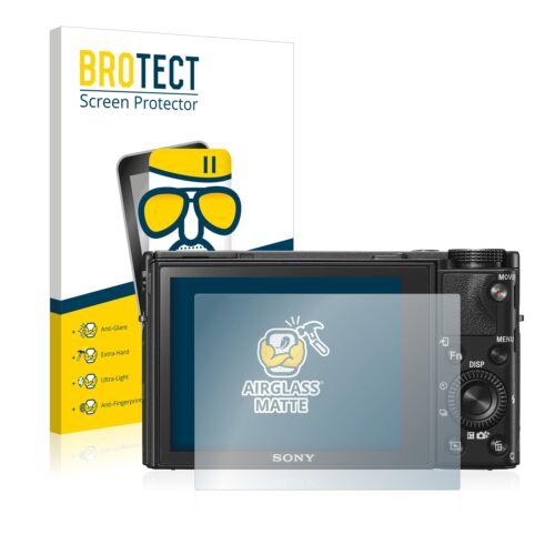Protección de cristal blindado diapositiva para Sony Cyber-shot dsc-rx100 vi Matt tanques diapositiva