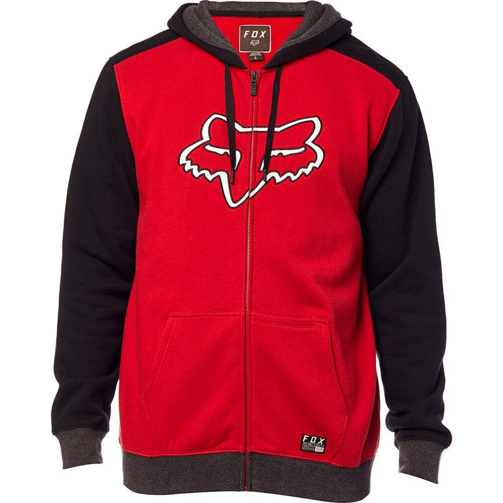 Fox Destrakt Zip Fleece Hoodie Cardinal S,M, L, XL BNWT 22044-465