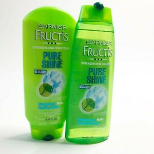 Garnier Fructis Pure Shine Shampoo Conditioner Strengthening 8 45 Fl Oz Each 3600541073173 Ebay