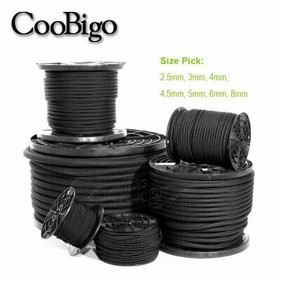 5mm x 5 Meters Black Elastic Bungee Rope Heavy Duty Shock Cord Roof Tie Down