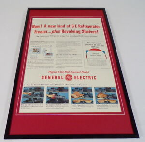 1955-General-Electric-Refrigerator-Framed-11x17-ORIGINAL-Advertising-Poster