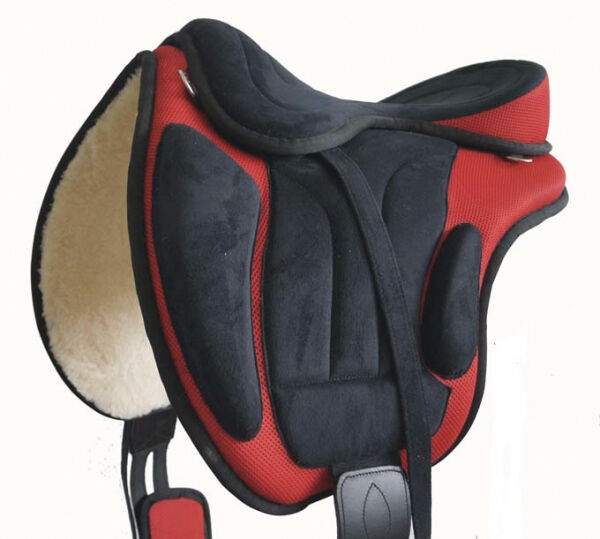 Baumloser Sattel 18'' rot rot rot beige oder schwarz INKL. Sattelgurt 2d9f94