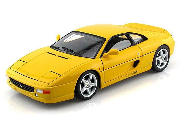 n ° 1 en línea Hot Wheels Elite X5479 1 18 Ferrari F355 Berlinetta Berlinetta Berlinetta Diecast Modelo Coche Amarillo  más descuento