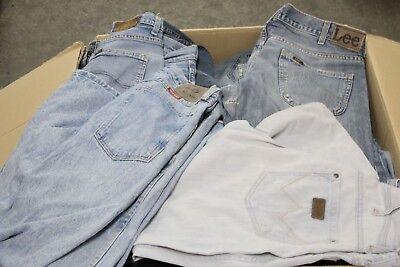 Collezione Qui Lotto Stock 50kg Jeans Lee E Wrangler Rotti Uomo Vintage Rivendita Remake Affare Delizie Amate Da Tutti