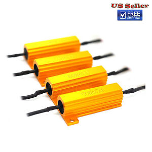 50W 6ohm Load Resistors Fix LED Bulb Turn Signal Blink Error Code Resistor