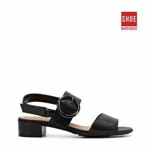 Hush Puppies MACKENZIE Black Womens Heels Dress/Formal Leather Heels