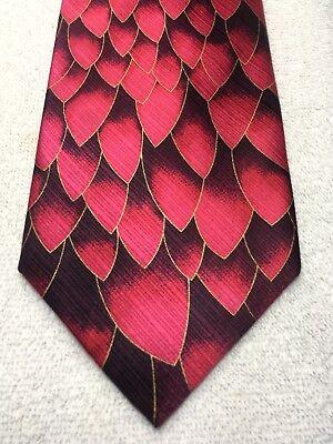 100% Vero John Blair Cravatta Uomo Fuchia Con Profondo Viola 4 X 61 Nwot
