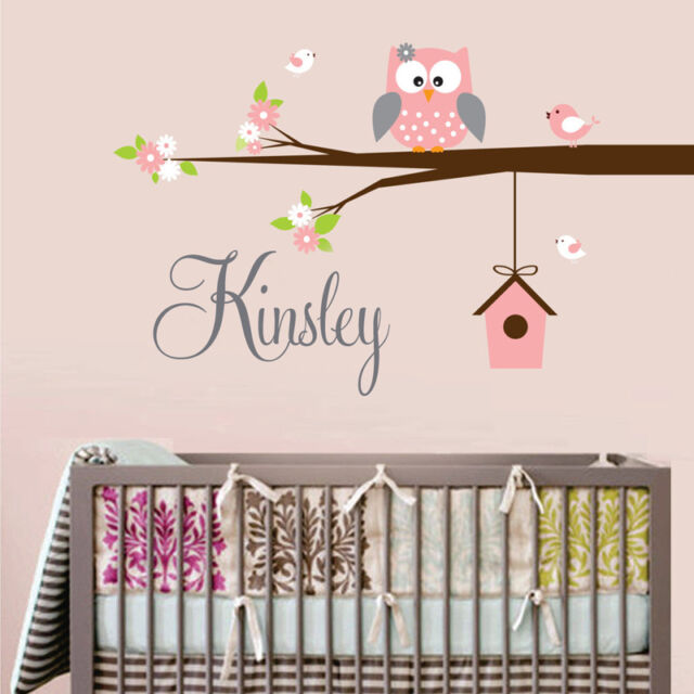 Nursery Decals Wall Stickers Owl Tree Nursery Decal Personalized Name & Color