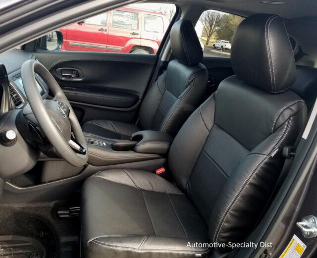 Katzkin Black Replacement Leather Int Seat Covers Fits 2016 2018 Honda Hrv Lx Ex