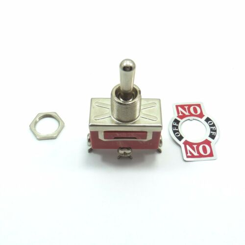 SPDT ON-OFF-ON Toggle Switch Panel Mount 3 Positions Single Pole Double Throw