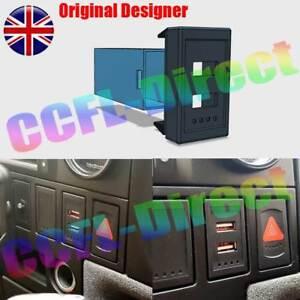 Red-Rot-VW-T4-Transporter-OEM-Hersteller-USB-Ladegeraet-Telefon-Dash-Blank-Switch