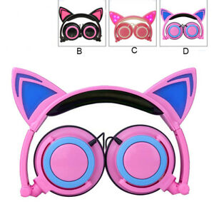 Foldable-Cat-Ear-LED-Music-Lights-Headphone-Earphone-headset-for-Laptop-MP3