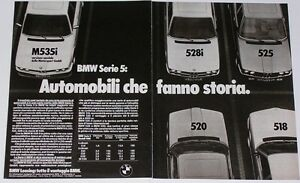 Advert-Pubblicita-1980-BMW-518-520-525-528i-M535i-SERIE-5-E12