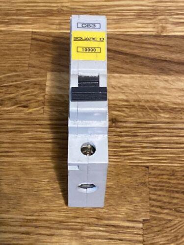 SQUARE C 63 Amp TYPE 6kA MCB Disjoncteur qoe 10000