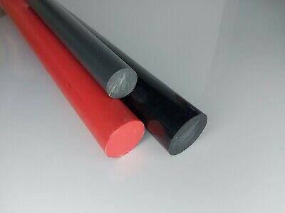 PVC-U Kunststoffstab auf Zuschnitt 2,5cm PVC Rundstab grau /Ø 12mm L: 25mm