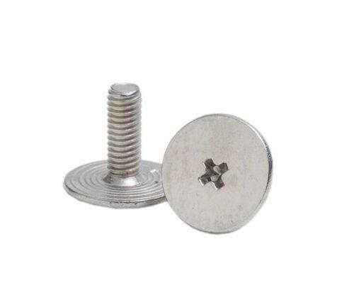 M2.5 phillips big round bolts thin head computer male screws full thread 100pcs