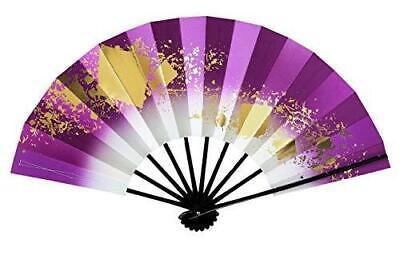 "Japanese Odori Dance /""Sensu/"" 28.8cm Folding Fan purple Love  //Made in Japan"