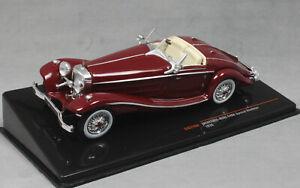 IXO-Mercedes-Benz-540K-Roadster-especiales-en-Rojo-Oscuro-1936-CLC316N-1-43-Nuevo