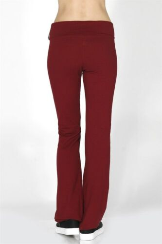 Yoga Pants Slim Foldover Waist Every Day Active Basic Flare  S,M,L,1X,2X,3X