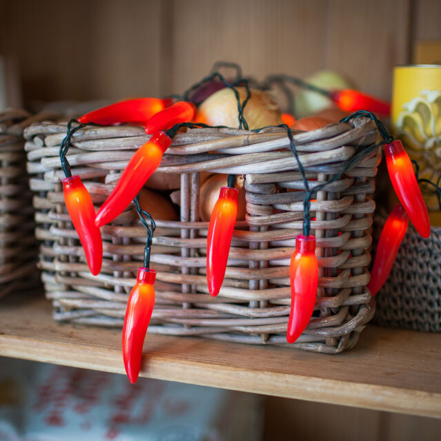 promo code 738cf 91d89 20 Red Chilli Pepper Battery Operated LED Fairy Lights by Lights4fun